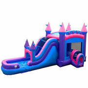 16 X 32 Mega Pink and Purple Wet Dry Water Slide Combo with 7Ft High Slide