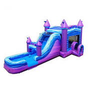 16 X 32 Mega Purple Marble Wet Dry Water Slide Combo with 7 Ft High Slide