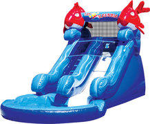 12' Lil' Kahuna Water Slide with pool - best for 6 Y/O and younger