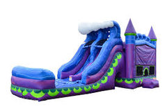 Rapids Dual Lane water Slide Bounce House Combo
