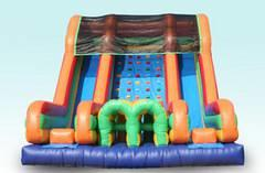 18 FT  Double Bay Rock Climb Obstacle Slide