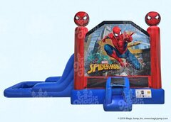 15 X 28 Spider-Man 4 in 1 Waterslide Combo Bouncer with Pool