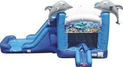 13 X 28 Dolphin Wet or Dry Bounce House with Slide