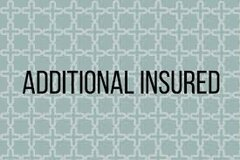 Additional Insured Certificate