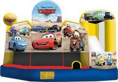 19 X 20 Cars 5 in 1 Wet or Dry Combo Moonwalk Slide
