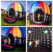 19 X 23 Disco Dome Bounce House with Music and Lights