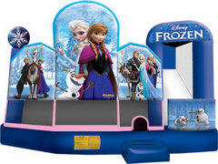 19 X 20 Frozen Inflatable Combo 5 in 1 wet or dry slide