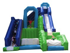 30' Triple Fun Jump N Slide (Requires 2 Blowers)