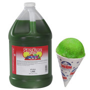 Lemon Lime Sno-Kone Syrup With Pump - 1 Gallon - Makes 100 cones