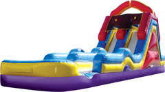 19' Monster Splash 2 Lane Water Slide With Pool - back entry