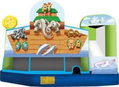 19 X 20 Noah's Ark 5 in 1 Jumping Castle with Wet or DRY Slide