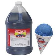 Blue Raspberry Sno-Kone Syrup With Pump - 1 Gallon - Makes 100 cones