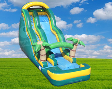 20' Tropical Wave Water Slide (Requires 2 - 2 HP Blowers)