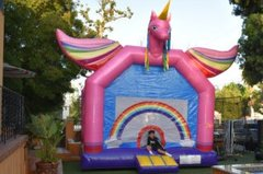 Flying Rainbow Unicorn Bounce House