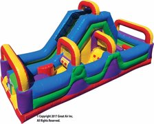 Speed Zone 180 Obstacle Course 54' of FUN! - Best for kids 12 and Under
