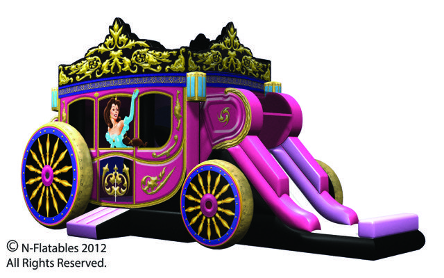 Princess Carriage Combo Bouncer with Slide 31 X 14 X 16