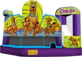 19 X 20 Scooby Doo 5 in 1 Combo slide Moonwalk