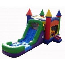 14 X 30 Rainbow Water Slide Combo Bounce House