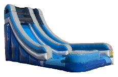 18' Blue Waterworks Slide