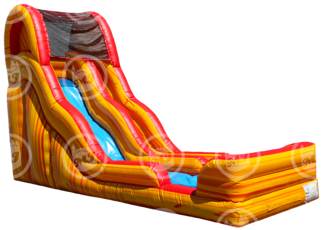 19' Flammin Slippity Slide - Wet