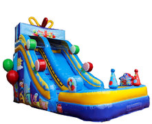(B) 18ft Birthday Party Wet-Dry Slide