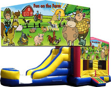 (C) Fun on the Farm Bounce Slide Combo