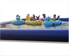 (D) 5 Bumper Boats With 30ft Pool
