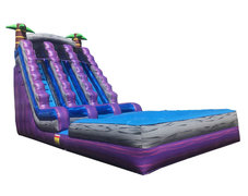 (D) 20ft Triple Lane Paradise Wet-Dry Slide - UT