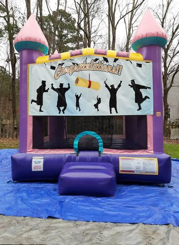 Graduation 1 Dazzling Medium Bounce House