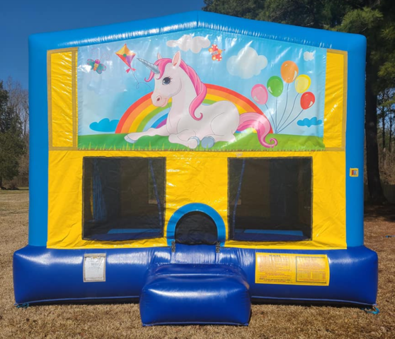 Unicorn 3 Bounce House Large
