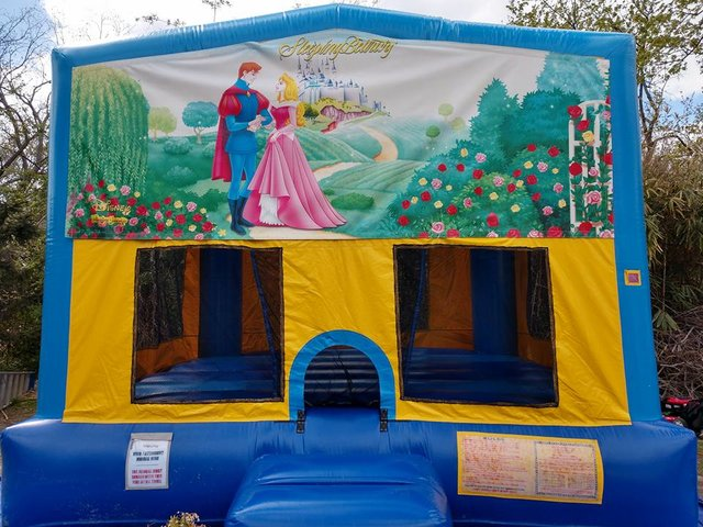 Sleeping Beauty Bounce House Large