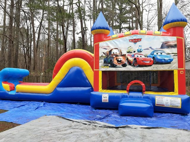 Disney Cars Castle Single Slide Wet Combo