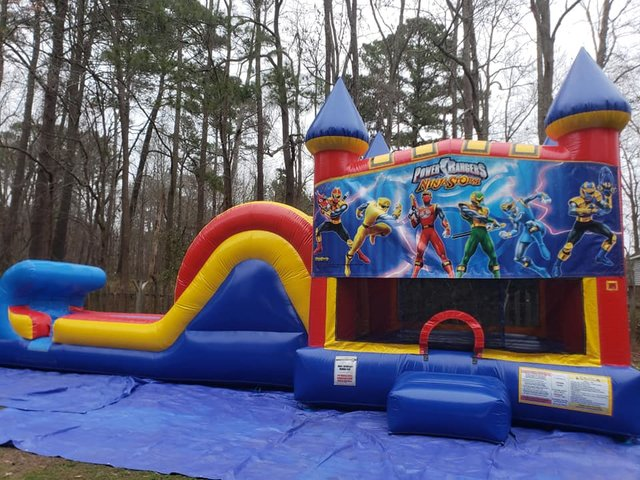 Power Rangers Castle Single Slide Dry Combo