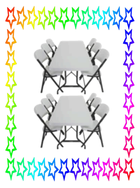 2 Tables and 12 Chairs