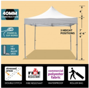 10ft x 10ft Pro Pop Up Tent