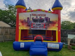 Fire Engine Rescue Medium Bounce House