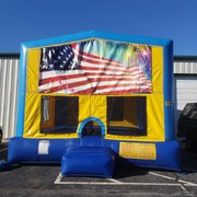 Patriotic 3 Bounce House Large
