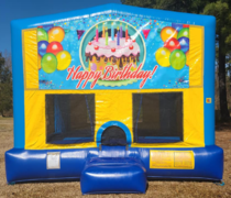 Happy Birthday 4 Bounce House Large