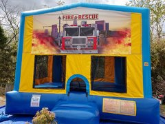 Fire Rescue Bounce House Large