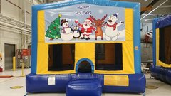 Happy Holidays Christmas Bounce House Large