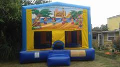 Luau Party Bounce House Large