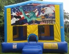 Patriotic 1 Bounce House Large