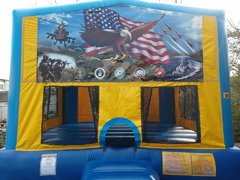 Patriotic 2 Bounce House Large