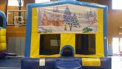 Winter Scene Christmas Bounce House Large