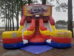 Fire Rescue Double Wet Slide