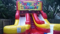 Happy Birthday 2 Double Wet Slide