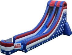 19ft USA Stars and Stripes Dry Slide