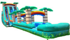 22ft Tropical double lane With slip and slide