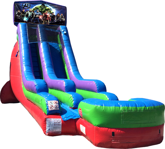 18 Ft Water Slide Avengers