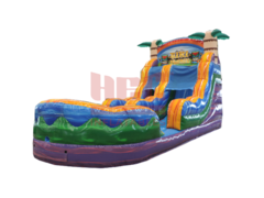 15' Tiki Plunge Single Lane Water Slide